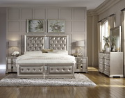 Aqua Pear Couture Cal King Panel Bed by Pulaski - JPK5848