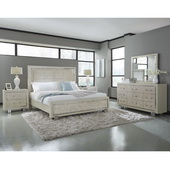 Aqua Pear Cydney Queen Upholstered Panel Bed by Pulaski - JPK5932