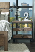 Aqua Pear Flatbush Deluxe Castered Nightstand by Pulaski - JPK6014