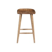 Aqua Pear Hops Deluxe Saddle Seat Bar Stool by Pulaski - JPK6218