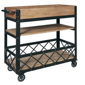 Aqua Pear Deluxe Rolling Bar Cart by Pulaski - JPK6242