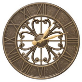 Aqua Pear 21in Indoor Outdoor Wall Clock French Bronze - JWH1130