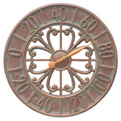 21in Indoor Outdoor Wall Thermometer Copper Vedigris - JWH1140