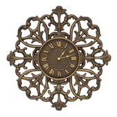 Aqua Pear 21in Indoor Outdoor Wall Clock Aged Bronze - JWH1040