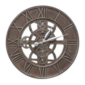 21in Indoor Outdoor Gear Wall Clock Weathered Iron Finish - JWH1020