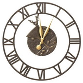 Aqua Pear 21in Indoor Outdoor Wall Clock French Bronze - JWH1190