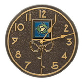 Blue Rose 12in Indoor Outdoor Wall Clock French Bronze - JWH1200