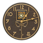 Amber Rose 12in Indoor Outdoor Wall Clock French Bronze - JWH1220