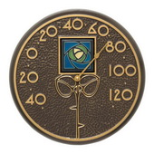 Blue Rose 12in Indoor Outdoor Wall Thermometer French Bronze - JWH1210