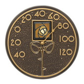 Amber Rose 12in Indoor Outdoor Wall Thermometer French Bronze - JWH1230