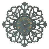 21in Indoor Outdoor Wall Thermometer Bronze Verdigris - JWH1090