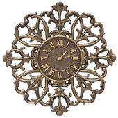 Aqua Pear 21in Indoor Outdoor Wall Clock French Bronze - JWH1070