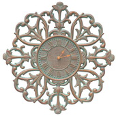21in Indoor Outdoor Wall Clock Copper Vedigris - JWH1060