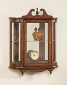 Butler Elegant Cherry Wall Curio Cabinet