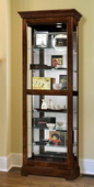 Heartwood Macdermit Wooden Curio Cabinet in Regency Cherry Finish (Made in USA) - LHW3030