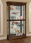 Heartwood Neil Wooden Curio Cabinet in Regency Cherry Finish (Made in USA) - LHW3050