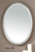 Sherise Brushed Nickel Oval Mirror  - LUT4710