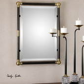 Rondure Bronze Metal Wall Mirror - LUT1023
