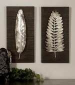 Silver Leaves Wall Art  - LUT7541