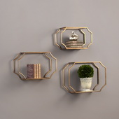 Lindee Wall Shelves Set of 3