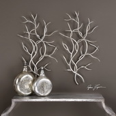 Silver Branches Set of 2