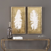 White Feathers Set of 2