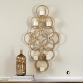 Coree Gold Rings Wall Sconce - LUT4703