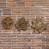 Kalani Teak Wall Art Set of 3 - LUT4711