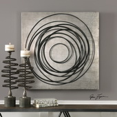 Whirlwind Iron Coils Wall Art - LUT4729