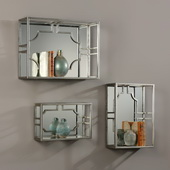 Adoria Silver Wall Shelves Set of 3 - LUT4739
