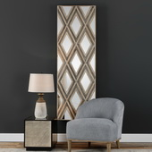 Tahira Geometric Argyle Pattern Wall Mirror - LUT4743