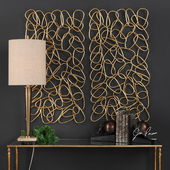 In The Loop Gold Wall Art Set of 2 - LUT4757