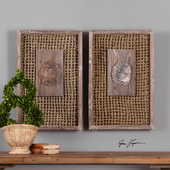 Endicott Petrified Wood Panels Set of 2 - LUT4759