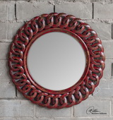 Sassia Red Round Mirror  - LUT6426