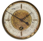 18in Aqua Pear Weathered Wall Clock  - LUT1240