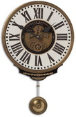 11in Aqua Pear Pendulum Wall clock  - LUT1218