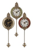4in Aqua Pear Pendulum Wall Clocks  - LUT1204
