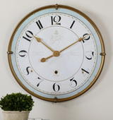 31.5in Aqua Pear Crackled Wall Clock - LUT6382