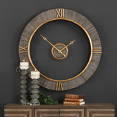 Aqua Pear Modern Wall Clock - LUT4791