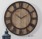Aqua Pear 30in Wooden Wall Clock - LUT7954