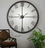 Aqua Pear Large Bronze Wall Clock - LUT1033