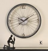 Spokes Aged Wall Clock - LUT1043