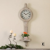 Louisa Antiqued Ivory Wall Clocks - LUT1045