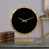 Designer Gold Table Clock