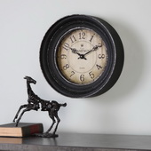Designer Aged Black Wall Clock