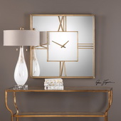 Sebastiano Square Mirrored Wall Clock