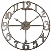 32.25in Aqua Pear Metal Wall Clock  - LUT1148