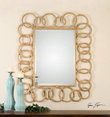 Amena Gold Rings Mirror - LUT1051