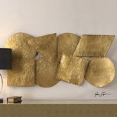 Arrigo Gold Wall Art - LUT1061