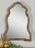 Agustin Light Walnut Mirror  - LUT6460